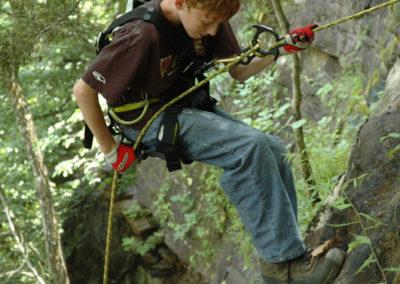 rock climbing the Upper Buffalo River
